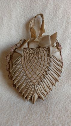 Antique Victorian Lace Heart Pin Cushion