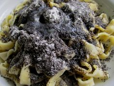 Homemade noodles with poppy seeds - Homemade noodles with poppy seeds - Snack Recipes, Dessert Recipes, Healthy Recipes, Snacks, Desserts, Czech Recipes, Ethnic Recipes, Cheesesteak, Noodles