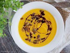 Przepyszna i łatwa w przygotowaniu zupa krem z dyni i kalafiora, bez dodatku śmietanki. Polecam! Cauliflower Soup, Brownies, Panna Cotta, Pudding, Pumpkin, Cooking, Ethnic Recipes, Food, Cake Brownies