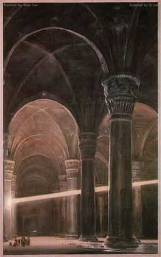 In Moria, by Alan Lee (The movie did a very good impression of this)