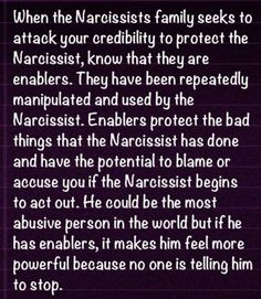 The narcissistic family...Wow.  Now I understand why his family is like that