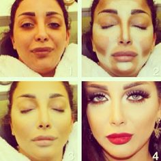 face contouring before and after | Tumblr