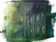 Niagara Street green - Silk Screen - Toronto - 2012