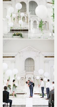 Balloon Wedding Decorations ~ we ❤️ this! moncheribridals.com