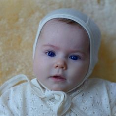 49c8ce7fe61 Silk   Wool Blend Bonnet - the ideal first bonnet for your baby. Soft