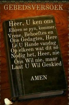 Heer U ken ons. Prayer Verses, Bible Prayers, Prayer Quotes, Bible Verses Quotes, True Quotes, Good Morning Wishes, Good Morning Quotes, Jesus Christ Quotes, Afrikaanse Quotes