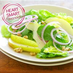 Pears are high in beneficial plant flavonoids, and eating pears with their skin gives you an excellent source of soluble fiber to help lower your cholesterol. Enjoy fresh pears in this light salad with tangy onions.