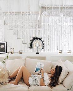 . SooBali White Stone 3bedroom villa Seminyak - Reading #welikebali  ofcourse. Who doesnt? : @manashika - Book directly on our website www.soobali.com . . #soobalivillas #soobaliwhitestone