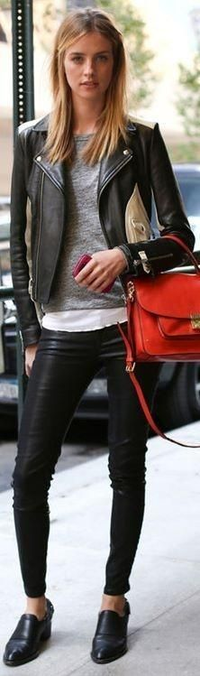Leather and leather together