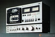 JVC Elcaset LD 777 Audio Recorder. 1978. The Elcaset used a larger than normal cassette and operated at 3.75ips.