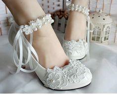 Diamond wedding shoe handmade beaded lace white lace flowers white wedding bride bridesmaid wedding shoes