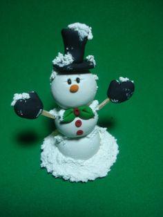 Snowman arcilla la Figura
