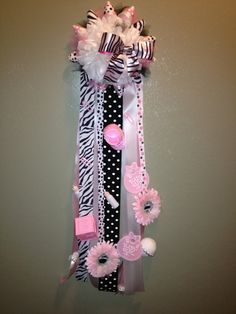 Pink, Black & Zebra Baby Mum on Etsy, $45.00