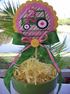John Deere Girl Pink Centerpiece or doorhanger- customized. $12.00, via Etsy.