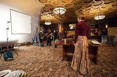 Getting ready for a scene at the Governor Hotel.  Picture: Levy Moroshan. The Record Keeper film, https://www.facebook.com/TheRecordKeeper