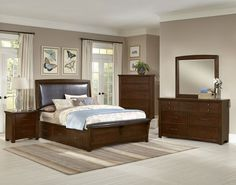 CATALINA-IV 4PC QUEEN BEDROOM SET $2,099.99 Sku:141157 The Catalina is a casual contemporary collection, the merlot color gives a relaxing feel, and with a complementing upholstered headboard you'll have the perfect, cozy oasis. The Catalina is very aesthetically appealing, but the beautiful collection is one that will last you for years to come, made of solid oak, and has been lightly distressed to add to the beauty. Please visit our website for warranty and benefits.