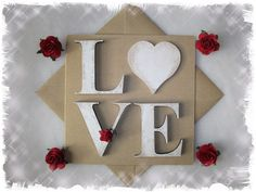Guilty as charged, I cant help it but I love my card that I created today, its designed to once its use as a card has gone, you can remove the distresssed shabby chic 6cm 6mm thick plywood letters and use them to decorate your home or a mirror or you could make a little flagging for them x