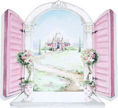 My little princess window...original design by me, Kris Langenberg. Princess Art