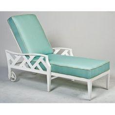 Woodard Harwick Adjustable Chaise Lounge - Patio Chairs at Patio Furniture USA