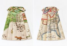 If vintage maps are your thing, then you'll dig British artist Elisabeth Lecourt's Les Robes Géographiques series. Folded from old maps of San Francisco, Dublin, Conneticut, Jerusalem, Los Angeles, London, and New York, these small-scale, pleated dresses would make the perfect gift for any map lover.