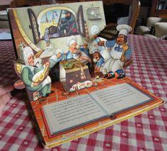 Je ne me lasse pas de mon livre animé (par languettes)_La Belle au Bois dormant_la page de la cuisine qui s'endort...