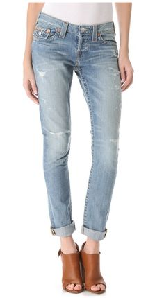 True Religion--- Perfectly Worn In Light Wash Jeans