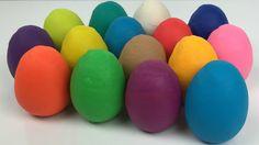 Play-Doh Surprise Eggs Peppa Pig disney princess cinderella Disney froze...
