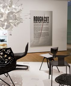 Name: MoMA - Rough Cut, Design takes a sharp edge. Wall Text, Wall Installation, Environmental Design, Museum Of Modern Art, Rough Cut, Wall Design, Photo Art, Typography, Layout