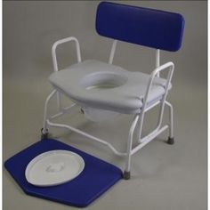Bariatric Commode   €173.35  The top selling bariatric commodes are manufactured from tubular steel and offer reinforced framework in heavier gauge tube to cater for users of up to 250kg/40st; Padded upholstery is heat-sealed so can be cleaned without risk of water ingress Commode Seat is contoured for ultimate comfort and rear is scalloped to allow access for personal hygiene