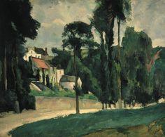 Paul Cézanne - Le Clos des Mathurins à Pontoise, 1875-77. #arte