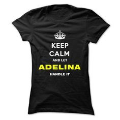 Keep Calm And Let Adelina Handle It - #sweatshirt embroidery #sweater dress. SATISFACTION GUARANTEED => https://www.sunfrog.com/Names/Keep-Calm-And-Let-Adelina-Handle-It-ssjbn-Ladies.html?68278