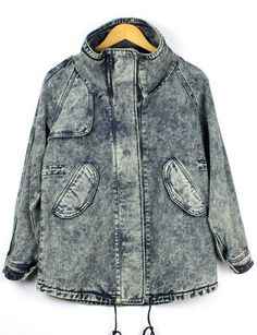 Best fashion just in, Retro Single-Brea... is available now, click the link http://modatendone.co.uk/products/retro-single-breasted-medium-length-denim-jacket-with-drawstring-blue?utm_campaign=social_autopilot&utm_source=pin&utm_medium=pin don't miss out our amazing collections!