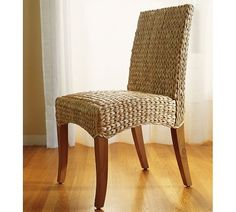 Seagrass Side Chair Havana Dark Woven Dining Chairs