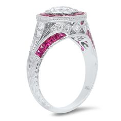 R153-1 - diamond and ruby ring
