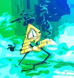 Bye, Bill by leoflynn on DeviantArt Gravity Falls Anime, Gravity Falls Bill, Gavity Falls, Desenhos Gravity Falls, Bipper, Reverse Falls, Bill Cipher, Billdip, Fanart
