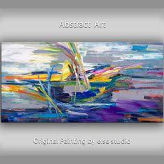 Huge original modern art Abstract Painting Modern by elsestudio, $368.00