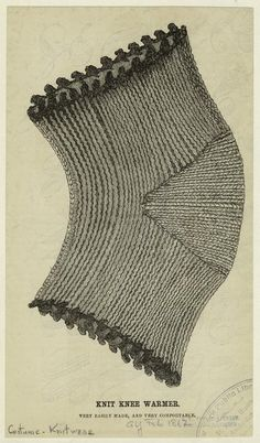 One of hundreds of thousands of free digital items from The New York Public Library. Knitting Projects, Knitting Patterns, Crochet Patterns, Knit Mittens, Knitting Socks, Knit Crochet, Crochet Hats, Knit Leg Warmers, Vintage Knitting