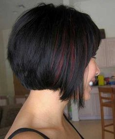 Latest Hair Color Trends - Short Hairstyles for Women with Round Faces - Styles Weekly Inverted Bob Hairstyles, 2015 Hairstyles, Short Hairstyles For Women, Pretty Hairstyles, Layered Hairstyle, Funky Hairstyles, Bob Haircuts, Haircut For Thick Hair, Short Haircut