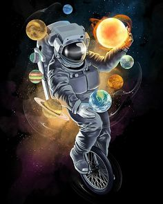 33 Ideas Space Illustration Art Cosmos For 2019 Galaxy Drawings, Space Drawings, Art Drawings, Art Sketches, Art And Illustration, Astronaut Illustration, Art Galaxie, Astronaut Wallpaper, Space And Astronomy