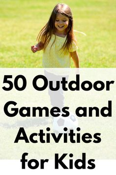 50 Outdoor Games and Activities for Kids Summer Activities For Kids, Family Activities, Creative Activities, Kids And Parenting, Parenting Hacks, Outdoor Games, Outdoor Toys, Outdoor Play, Outdoor Activities