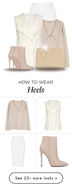 """Fur Vest (OUTFIT ONLY!)"" by bliznec on Polyvore featuring Jonathan Simkhai, Helmut Lang, Diane Von Furstenberg, Akira Black Label and Balenciaga"