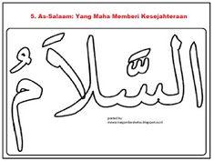 Mewarnai Gambar Mewarnai Gambar Kaligrafi Asmaul Husna Kaligrafi