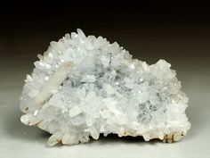 Clear Quartz Cluster With Calcite From Bulgaria Raw Rough