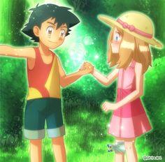 サトセレ ( It's meant to be cuz Serena was the first girl he met. NOT Misty . Pokemon Ash And Serena, Pokemon X And Y, Ash Pokemon, Pokemon Ships, Pokemon Fan Art, Cute Pokemon, Pokemon Team, Kalos Pokemon, Pokemon Ash Ketchum