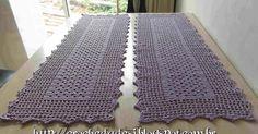 gráfico do meu caminho de mesa em crochê filé, confeccionado em barbante