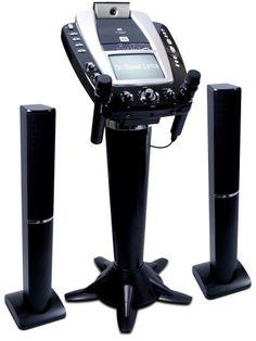 bose karaoke machine. kids\u0027 karaoke machines - singing machine stvg999 pedestal system with tower speakers camera monitor bose