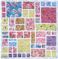 Modern Rose Garden Quilt Pattern by Carolina Patchworks helps you create a 62 inch square quilt that is perfect for showing off your favorite large print florals and other fabrics.