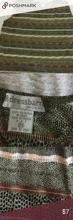 Dress Barn Printed T Shirt, 2X Dress Barn Printed Sleeveless T a Shirt, 2X Dress Barn Tops Tank Tops