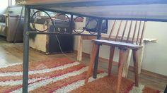 mesa hecha con puerta antigua restaurada, a la venta! +56 9 94895998