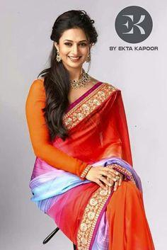 Divyanka Tripathi promoting 'EK' a saree brand by Ektha kapoor.